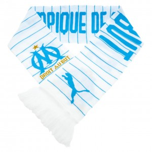 Om fan scarf white