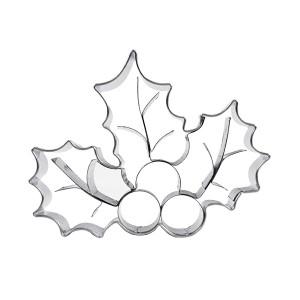 Découpoir inox Feuille houx 3D Patisse