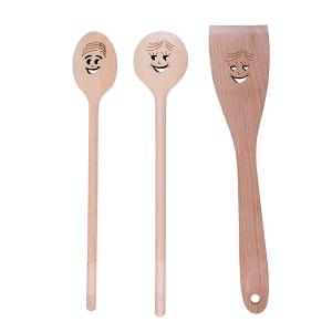 3 cuillères en bois Smiley Patisse