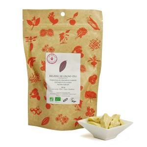 Beurre de cacao cru bio - Sachet de 125g