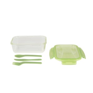 Lunch box verre avec couverts Pebbly
