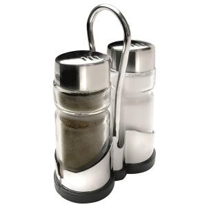 Salière et poivrière acier inoxydable verre