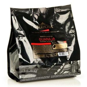 Chocolat de couverture Valrhona en fèves Guanaja  70% - Sachet 1kg