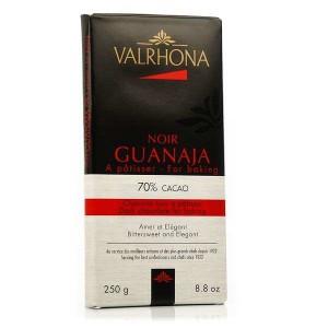 Tablette de chocolat noir pâtissier Guanaja 70% cacao - Valrhona - Tablette 250g