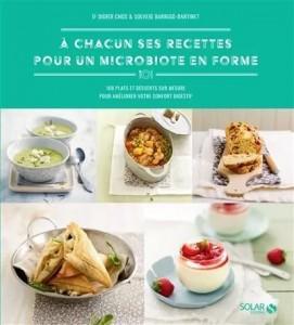 """Livre de cuisine """"A chacun ses recettes pour un microbiote en forme"""""""