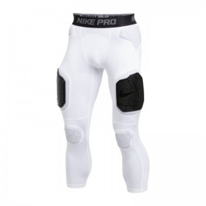 Legging de Protection Nike pro Hyperstrong 3/4 7 pads Blanc