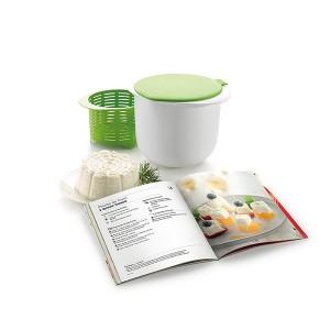 Kit fromage frais maison avec livre de recettes Cheese Maker Lekue