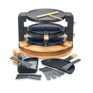 Raclette ronde multifonction 10 poêlons 1500 W Kitchen Chef Professional