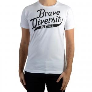 Tee Shirt Diesel Brave 100 Blanc