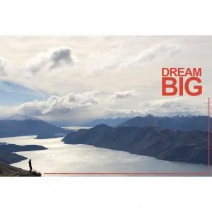 """Tirage photo aluminium dédicacé """"Dream big"""" 75x50"""