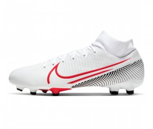 Chaussures de football Nike Mercurial Superfly VII Academy DF MG Blanc