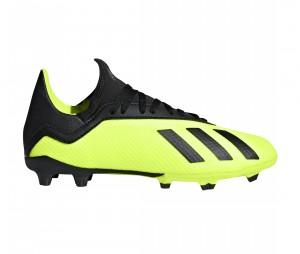 Chaussures de football adidas X 18.3 FG Jaune/Noir Junior