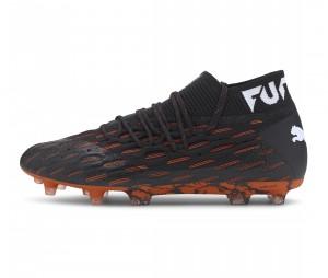 Chaussures de football Puma Future 6.1 Netfit FG/AG Noir/Orange