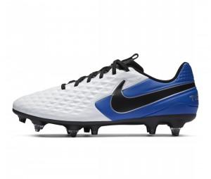 Chaussures de football Nike Tiempo Legend VIII Academy SG-Pro Anti-Clog Blanc/Bleu