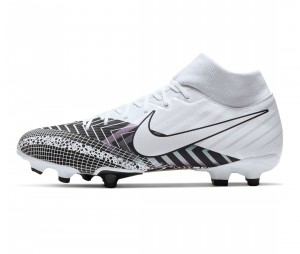 Chaussures de football Nike Mercurial Superfly VII Academy MDS DF MG Blanc