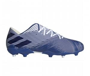 Chaussures de football adidas Nemeziz 19.2 FG Bleu/Blanc