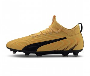 Chaussures de football Puma One 20.3 FG Jaune