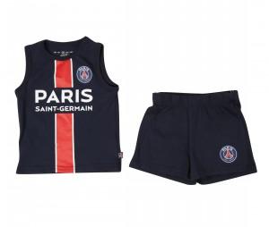 Kit Débardeur + Short PSG Bleu Bebe