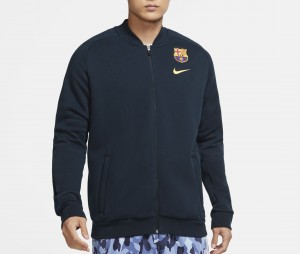 Veste Barça Fleece Bleu