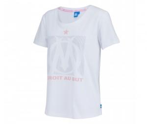 T-shirt OM Logo Blanc Femme