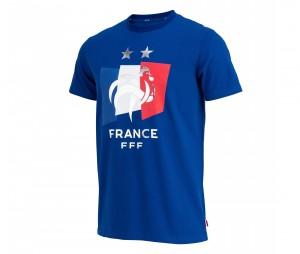 T-shirt France Drapeau Bleu 2 etoiles