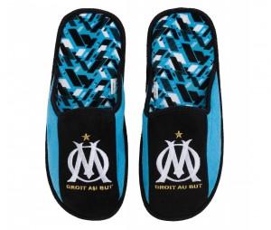 Pantoufles OM Fan Bleu/Noir
