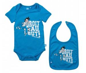 Kit Body + Bavoir OM Bleu Bébé