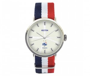 Montre Kelton France Bleu/Blanc/Rouge