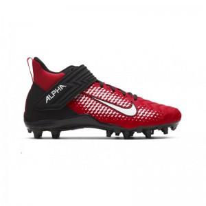 Crampons de Football Americain moulés Nike Alpha Menace Varsity 2 Rouge