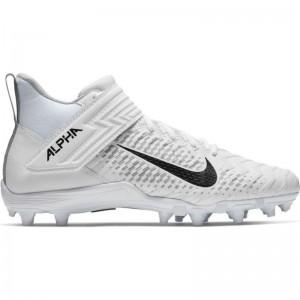 Crampons de Football Americain moulés Nike Alpha Menace Varsity 2 Blanc