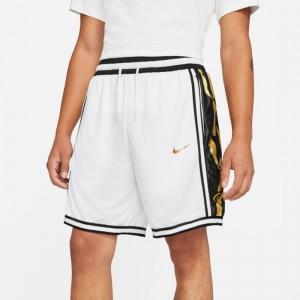 Short de Basketball Nike Dri-fit DNA+ Blanc pour homme