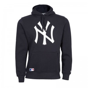 Sweat à capuche MLB New York Yankees New era Team logo bleu marine