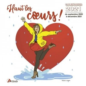 """Calendrier """"Haut les coeurs !"""" -  Septembre 2020 à Décembre 2021"""