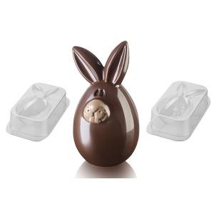 Moule à chocolat Lucky Bunny plastique Silikomart