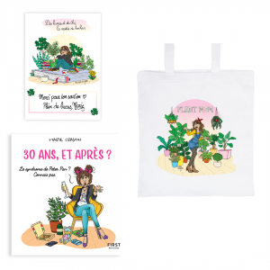 "Exclusive Book Pack ""30 years, and after ?"" + tote bag ""Plant Mom"" + signed card"