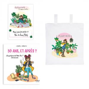 """Pack exclusif Marie Crayon livre """"30 ans, et après ?"""" + tote bag """"Plant Mom"""" + carte dédicacée OFFERTE"""