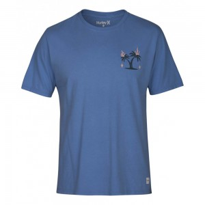 T-shirt Hurley Bail Tee Ss University Blue