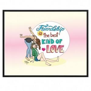 "Poster Papier 50x40 Marie Crayon ""Friendship"""