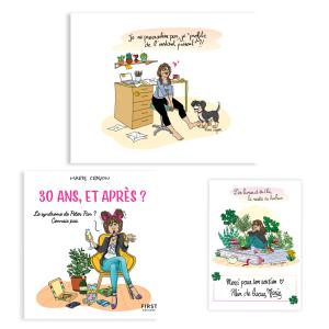"""Pack exclusif Marie Crayon livre """"30 ans, et après ?"""" + poster papier 50x40 """"Carpe Diem"""" + carte dédicacée OFFERTE"""