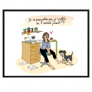 "Paper Poster 50x40 Marie Crayon ""Carpe Diem"""