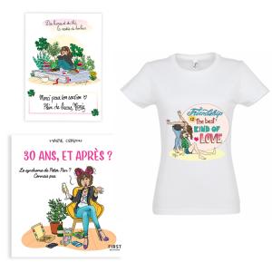 """Pack exclusif Marie Crayon livre """"30 ans, et après ?"""" + t-shirt blanc femme """"Friendship"""" + carte dédicacée OFFERTE"""