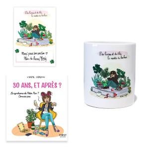 """Pack exclusif Marie Crayon livre """"30 ans, et après ?"""" + mug blanc """"La recette du bonheur"""" + carte dédicacée OFFERTE"""
