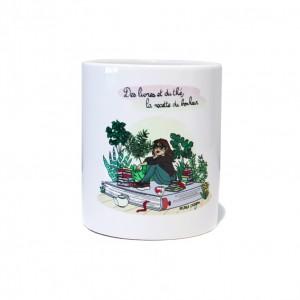 """Mug Blanc Marie Crayon """"La recette du bonheur"""""""