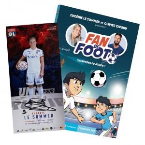 """Livre Fan de Foot Tome 5 """"Champions du Monde"""" + Carte Dédicacée"""