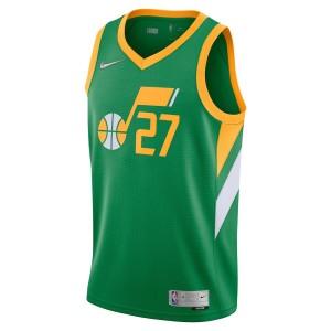 Maillot Nike Utah Jazz Earned Edition Swingman Vert Rudy Gobert