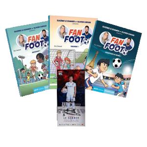 """Pack Livres """"Fan de Foot"""" Tomes 3 - 4 - 5 + Carte Dédicacée"""