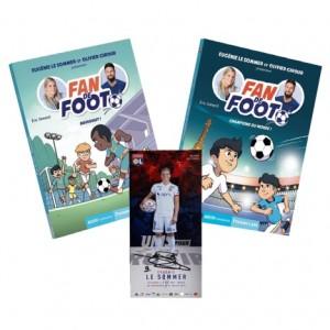 """Pack Livres """"Fan de Foot"""" Tomes 4 et 5 + Carte Dédicacée"""