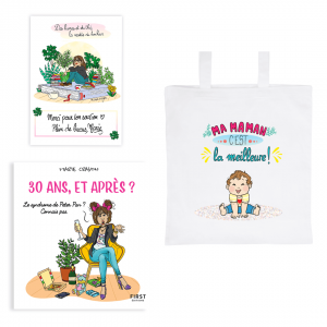 "Exclusive book pack ""30 years old, and then?"" + tote bag « My mom is the best"" + FREE signed card"