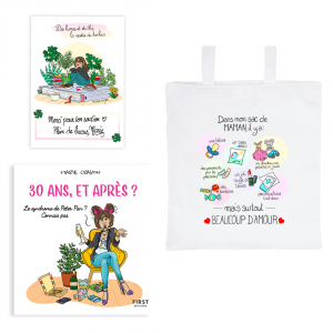 "Exclusive book pack ""30 years and after?"" + tote bag ""In my moms bag"" + FREE signed card"