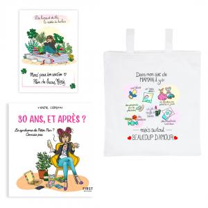 """Pack exclusif livre """"30 ans, et après ?"""" + tote bag """"Dans mon sac de maman"""" + carte dédicacée OFFERTE"""